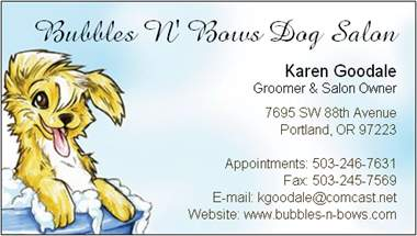bubbles n' bows business card image